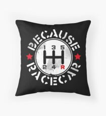 Three Pedals Manual Transmission Because Racecar Throw Pillow