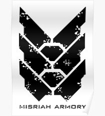 Misriah Armory Weathered Logo | Halo Poster