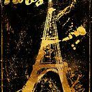 Golden Paris Eiffel by mindydidit