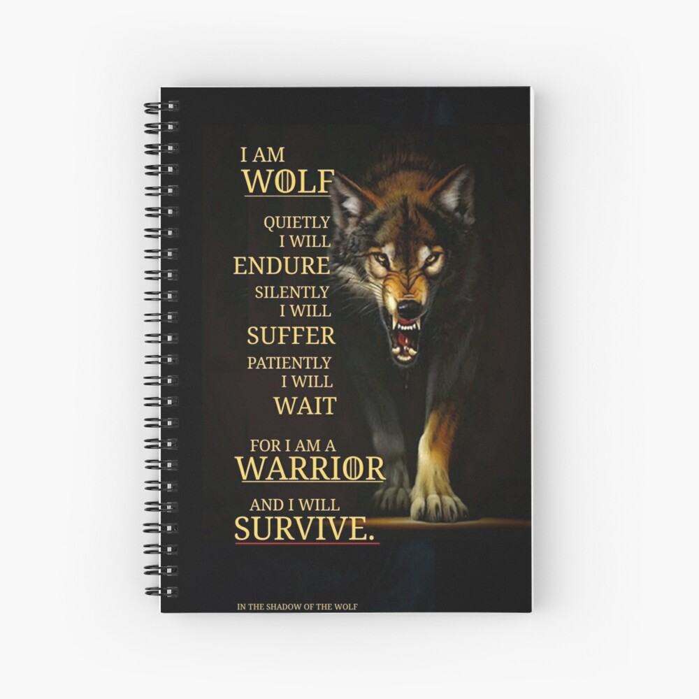 I Am A Warrior  Spiral Notebook