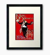 NEW ORLEANS : Vintage 1976 Jazz and Heritage Festival Print Framed Print