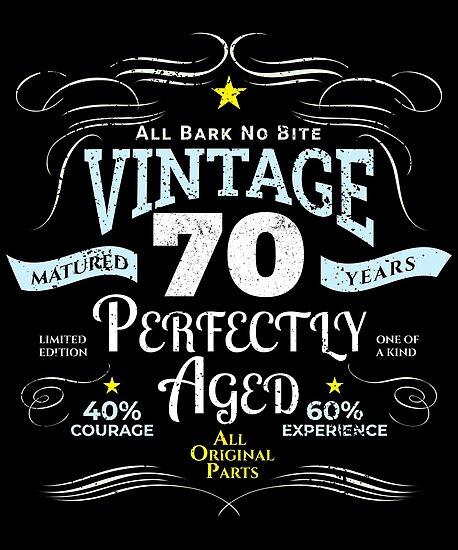 Funny Vintage 70th Birthday Gift