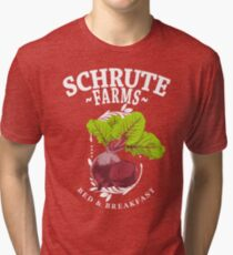Schrute Farms Bed & Breakfast The Office Beets Tri-blend T-Shirt