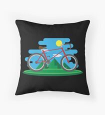 Cycling Forever - Bicycle Cycling Chain Bike Nature Throw Pillow