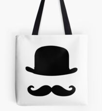 Mustache and bowler hat Tote Bag
