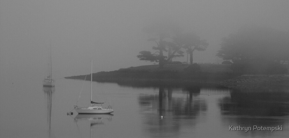 Fog On The Harbour  by Kathryn Potempski