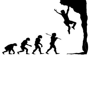 Evolution Rock Climber Graphic - Rock Climbing Shirt by a7med