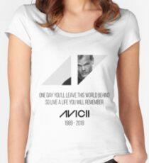 Avicii RIP Women's Fitted Scoop T-Shirt