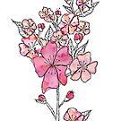 Cherry Blossom Watercolor by Jeri Stunkard