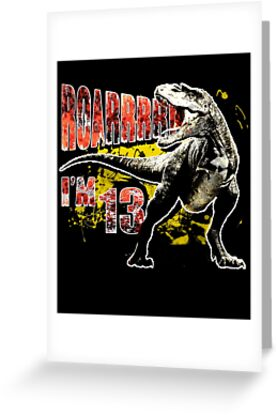 13th Birthday 13 Year Old Dinosaurs Gift By Modernmerch