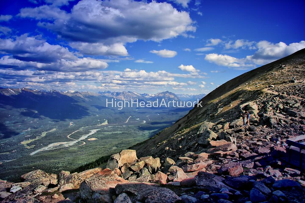 Maligne Range/Athabasca River Alberta by HighHeadArtwork