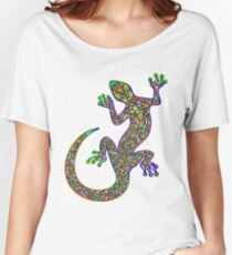 Psychedelic Lizard Gecko  Women's Relaxed Fit T-Shirt