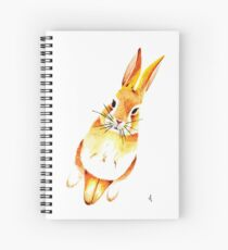 Watercolour Bunny Spiral Notebook