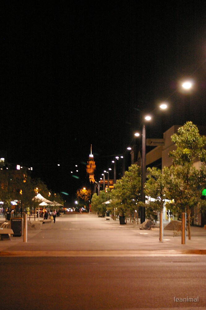 Hargreaves Street Mall by night by leanimal