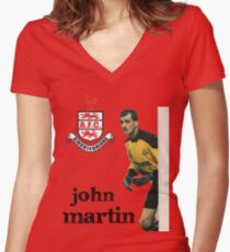 John Martin Women's Fitted V-Neck T-Shirt