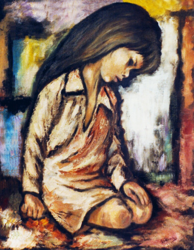 Kneeling Girl by adamsonarts