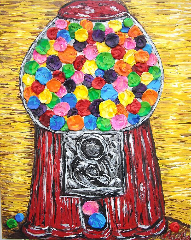 """""""Bubblegum Machine"""" by Adela bellflower"""