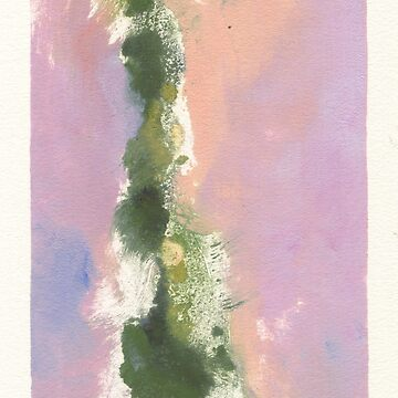 Abstract Monotype: Green and Lavender by megankoth