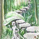 Kyoto Spirit Rain by Barbora  Urbankova