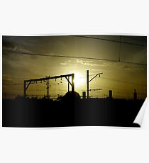 Railyard Sunset Poster