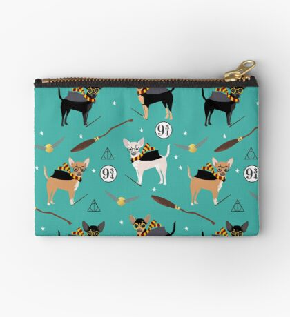 chihuahua witch wizard magical dog breed gifts Zipper Pouch