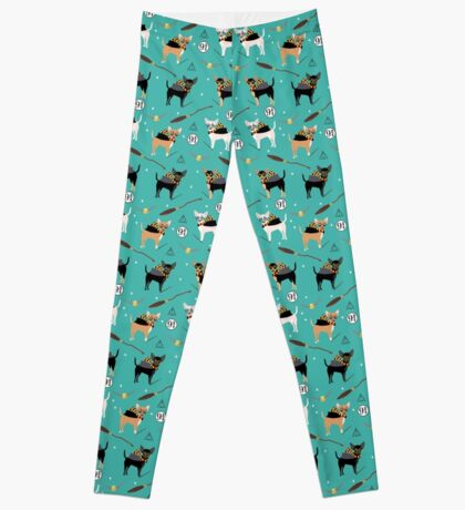 chihuahua witch wizard magical dog breed gifts Leggings