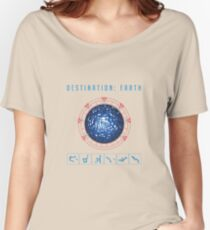 Destination Earth chevron symbols Women's Relaxed Fit T-Shirt