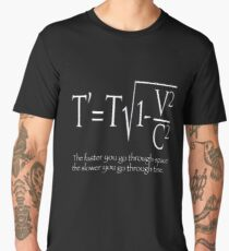 Time, and Space, Equation ,design, nerdy stuff, Beach Men's Premium T-Shirt