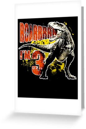 3rd Birthday Gift 3 Year Old Boys Dinosaurs Present By Modernmerch
