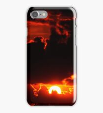 dark moody red sunset sky iPhone Case/Skin