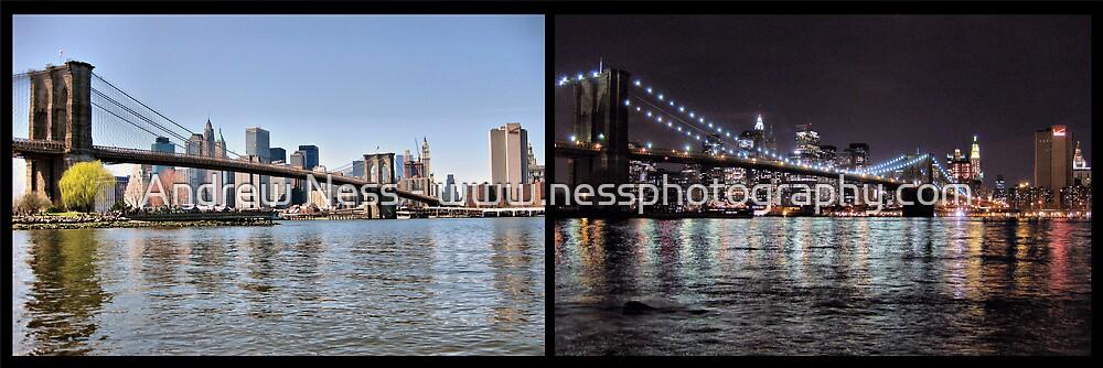 Brooklyn Bridge - Day to Night by Andrew Ness - www.nessphotography.com
