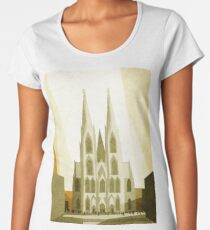 Cologne Cathedral Illustration Women's Premium T-Shirt