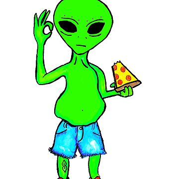 Alien Pizza Party by kassidycoleman