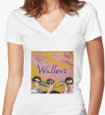 Wallows-La Croix  Women's Fitted V-Neck T-Shirt