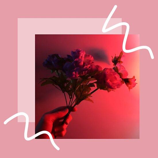 Neon Rose Tumblr Digitale Kunst Poster Von Jakeparkerart Redbubble