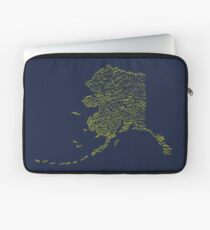 Alaska: Blue and Gold Laptop Sleeve