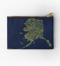 Alaska: Blue and Gold Studio Pouch