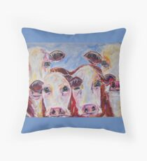 Ladies in Red Throw Pillow