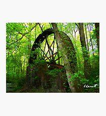 Waterwheel at Gilreath's Mill Photographic Print