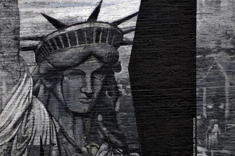 Liberty on bricks by Gilad