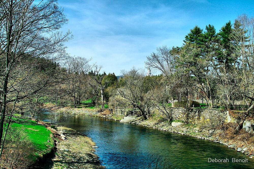 Ottauquechee River by Deborah  Benoit
