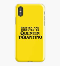 Written and directed by Quentin Tarantino iPhone Case