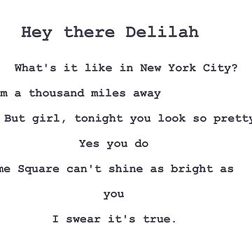 hey there delilah by thecrazyones
