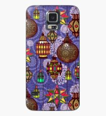 Moroccan Lanterns in a Marrakesh Market in Glowing Colors Against Blue Case/Skin for Samsung Galaxy