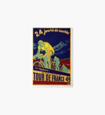 TOUR DE FRANCE; Vintage Bicycle Race Advertisment Art Board
