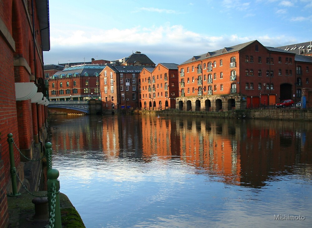 Warehouses on the River Aire by Mishimoto