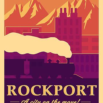 Rockport Travel Poster by atlasbeetles