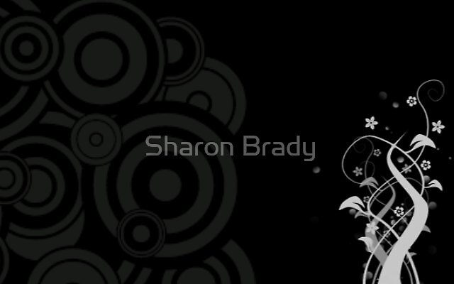 Simplistic Floral Swirls by Sharon Brady