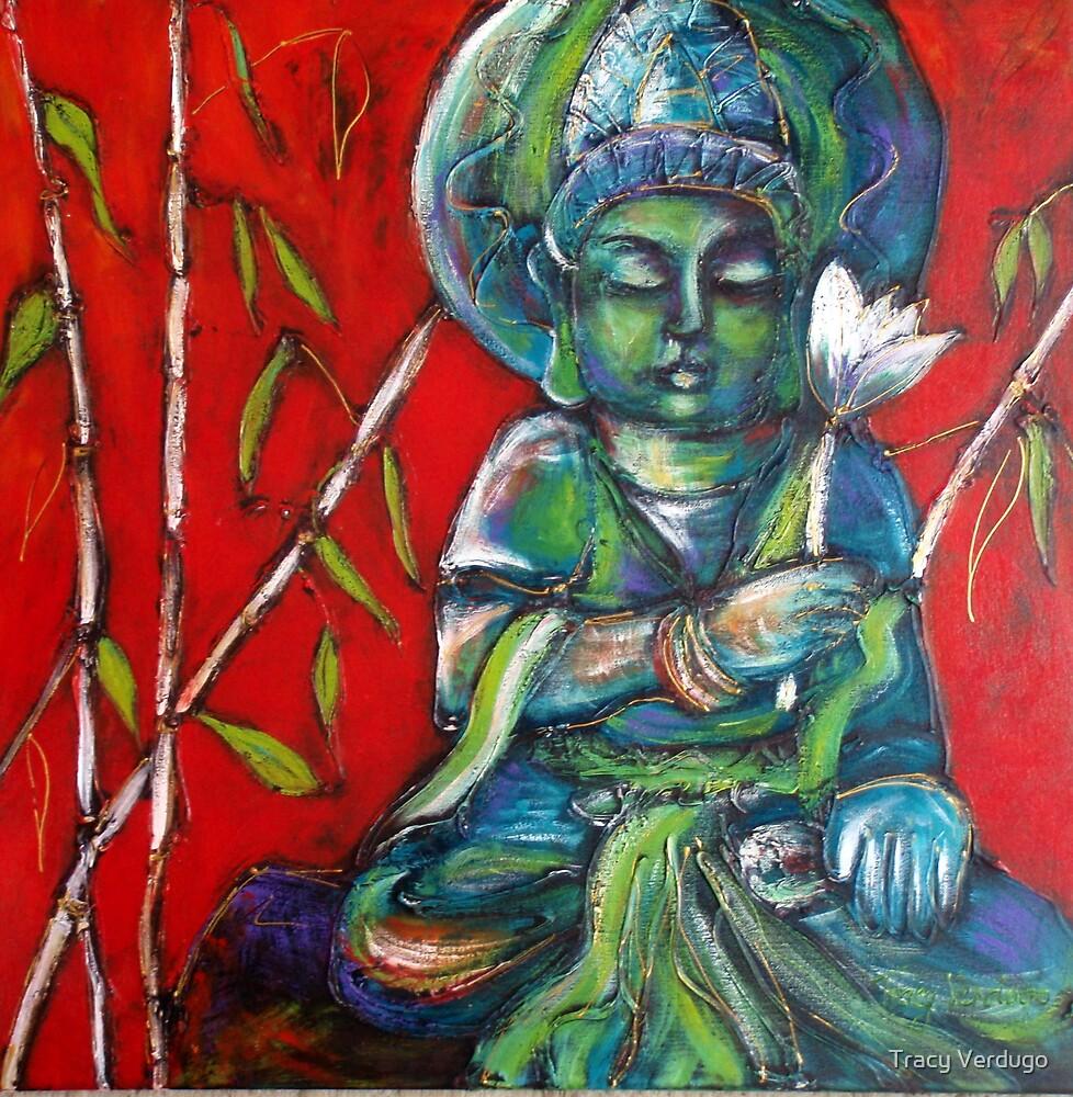 Buddha with Lotus by Tracy Verdugo