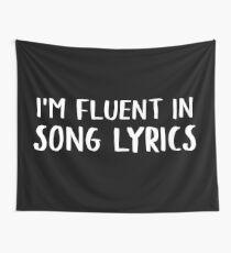 Tela decorativa I'm Fluent In Song Lyrics